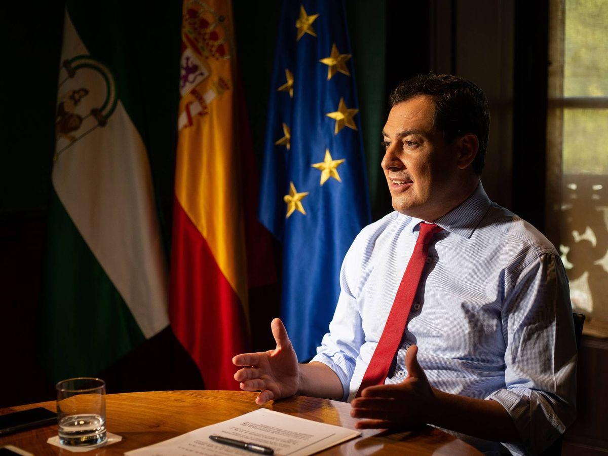 Foto: El presidente de la Junta de Andalucía, Juan Manuel Moreno Bonilla. (Fernando Ruso)