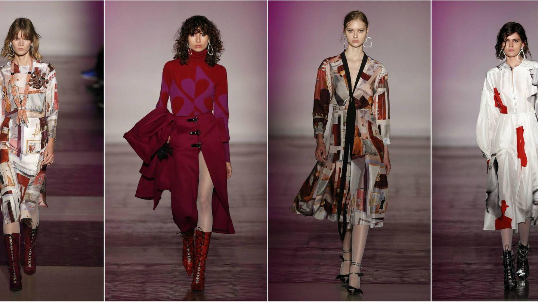 Bodies de cahsmere y vestidos estampados como ejemplo de la mujer urbanita que viste de Juan Vidal. (Gtres)
