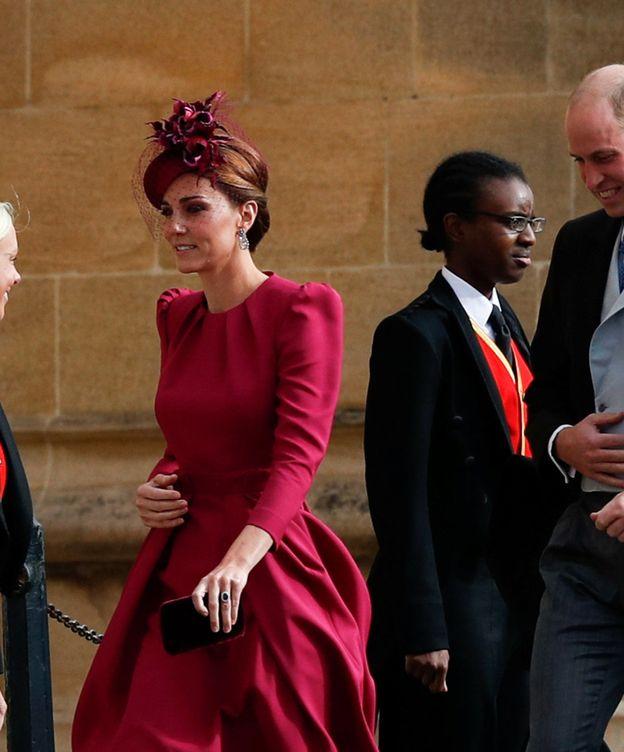 Foto: Kate Middleton llegando a la iglesia. (Reuters)