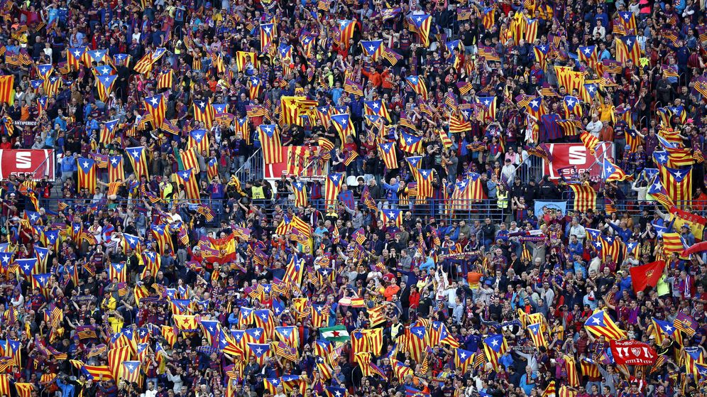 Foto: La grada del Calderón durante la final de Copa entre el FC Barcelona y el Sevilla. (EFE)
