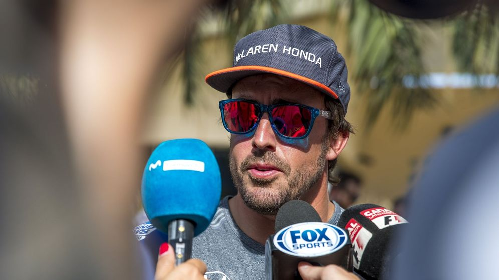 Foto: Alonso, en Bahréin. (EFE)