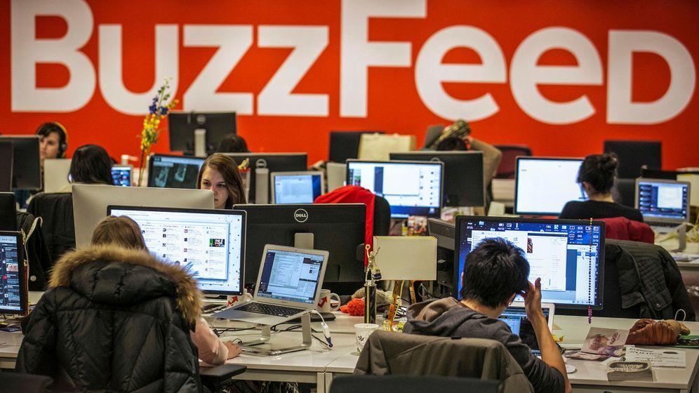 Foto: Empleados de Buzzfeed en su sede de Nueva York