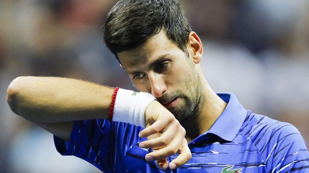 Foto: Novak Djokovic, durante su último aprtido contra Wawrinka en el US Open. (EFE)