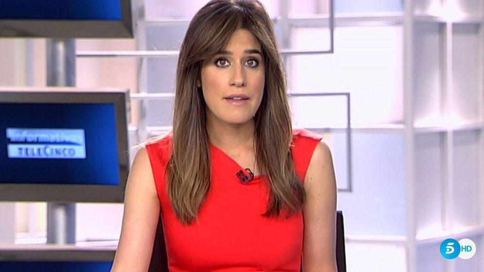 Foto: Isabel Jiménez, en 'Informativos Telecinco'. (Telecinco)