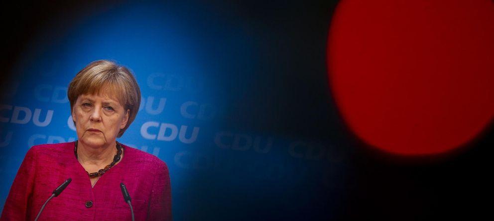 Foto: La canciller alemana, Angela Merkel, durante una conferencia tras las elecciones locales en Sajonia (Reuters)