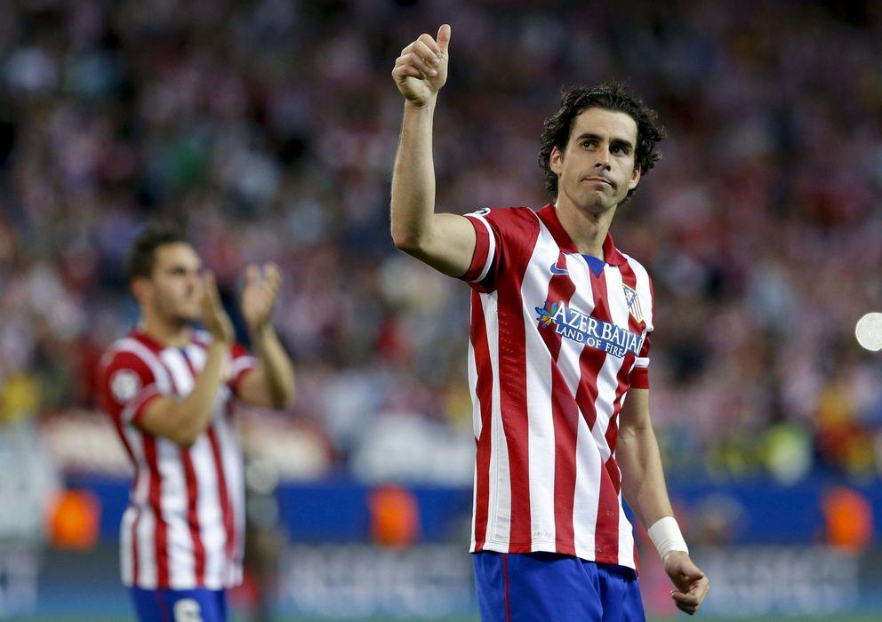 Foto: Tiago, en un partido con el Atlético de Madrid durante la pasada temporada.