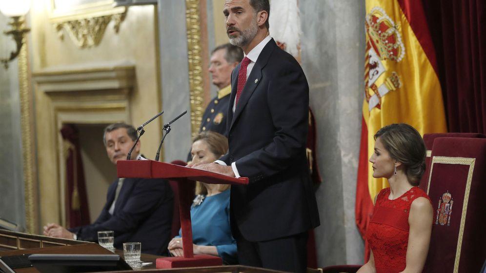 Foto: El Rey Felipe VI, durante su discurso en el Congreso de los Diputados. (EFE)