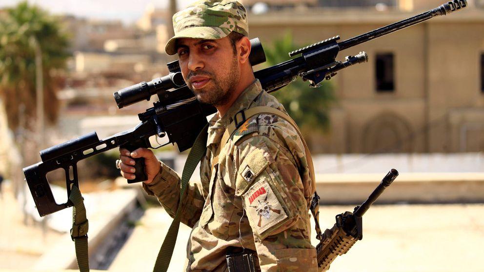 Francotiradores en el frente de Mosul