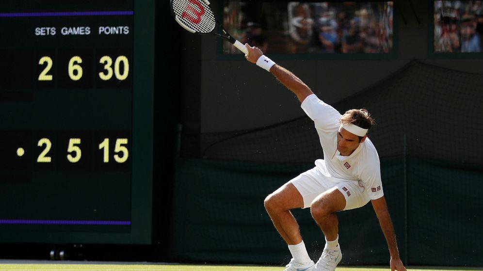 Foto: Federer en Wimbledon.  (ReuterS)