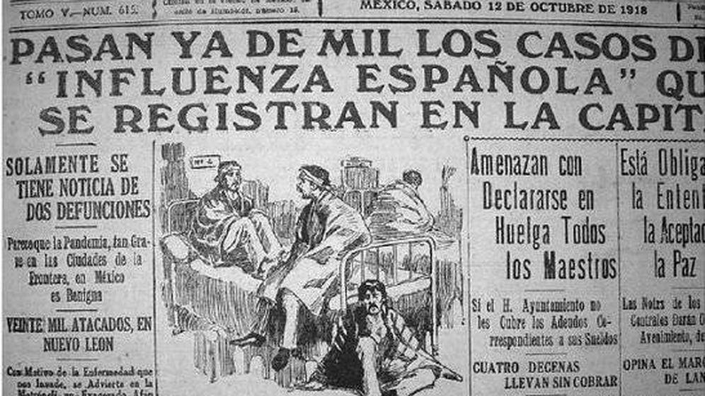 Foto: Recorte de prensa de la época sobre la epidemia de gripe española.