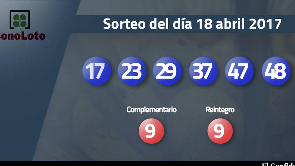 Resultados de la Bonoloto del 18 abril 2017: números 17, 23, 29, 37, 47, 48