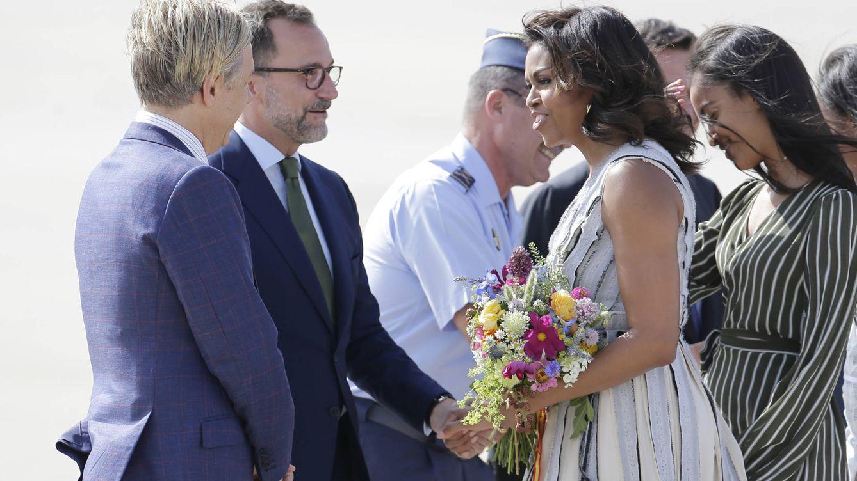Foto: Así fue la llegada de Michelle Obama a Madrid