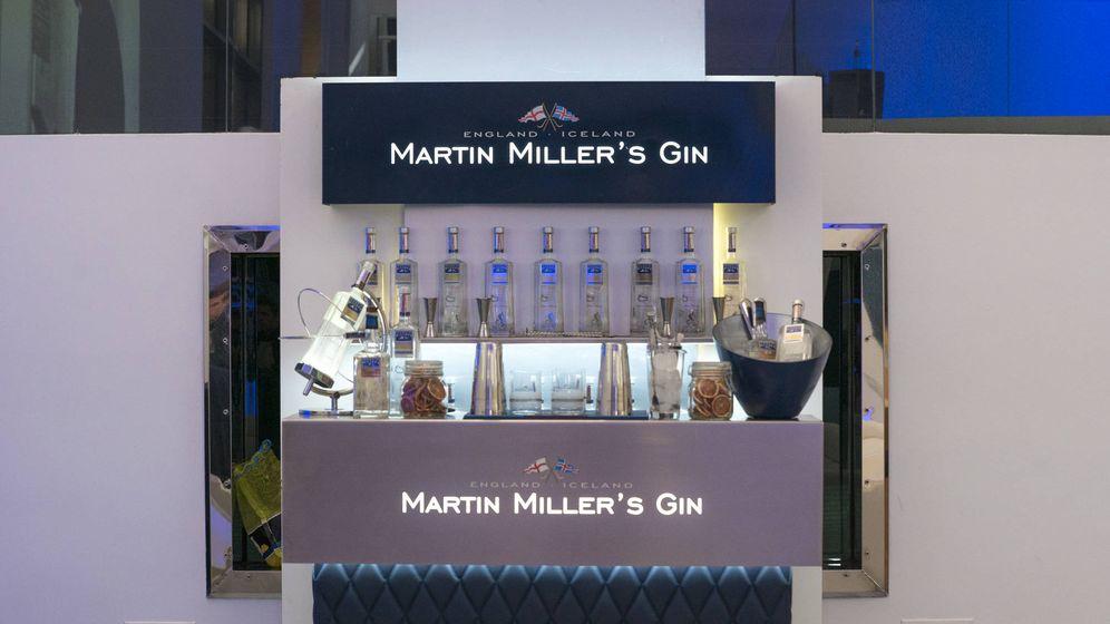 Foto: Barra de Martin Miller's para 'bartenders' profesionales.