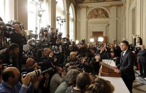 Renzi acepta con reservas el encargo de formar un Gobierno