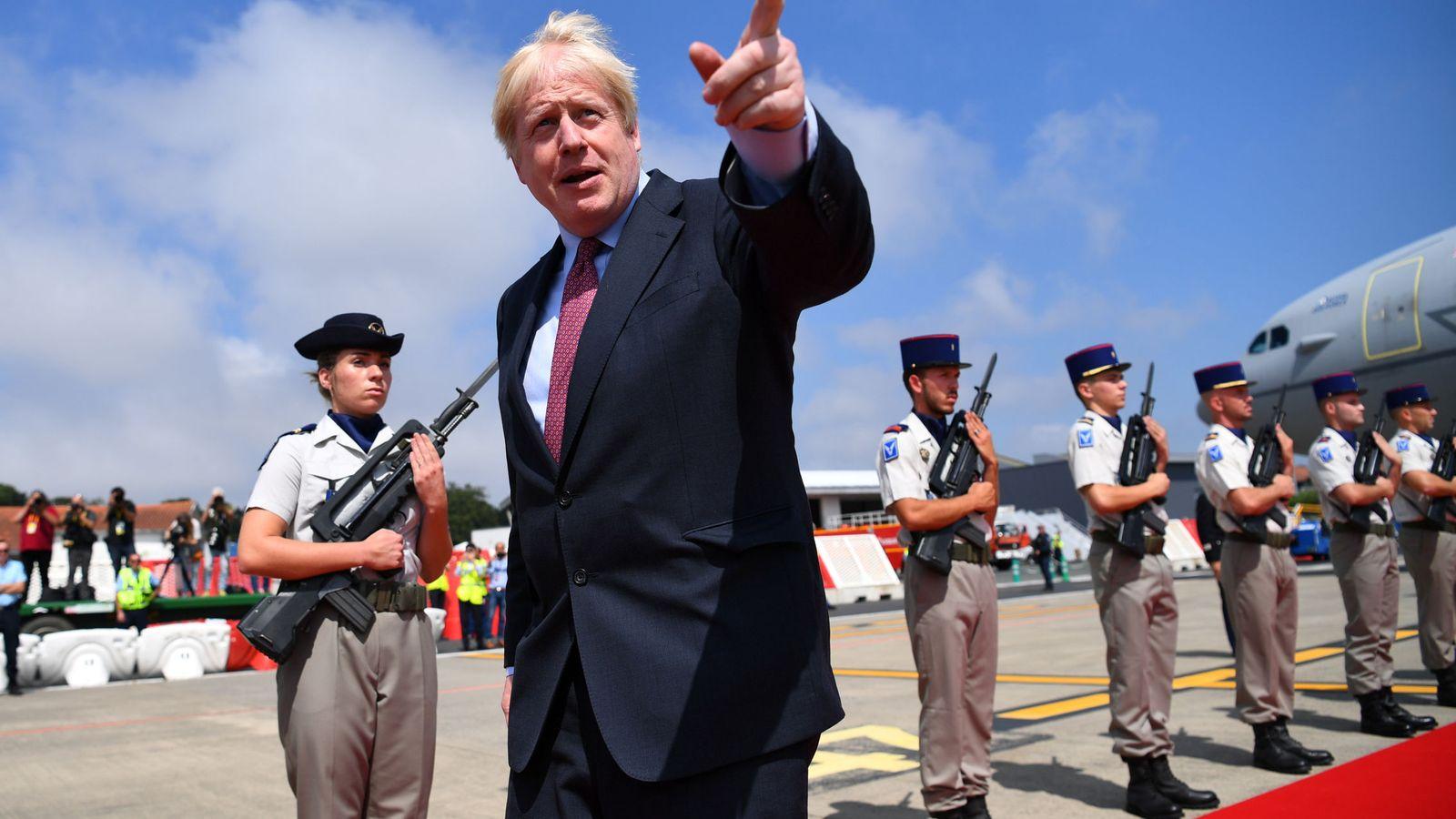 Foto: El primer ministro de Inglaterra, Boris Johnson, en la cumbre del G-7. (EFE)