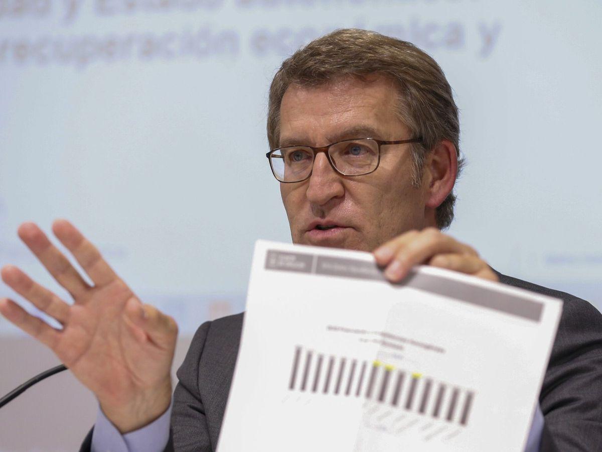 Foto: El presidente de la Xunta de Galicia, Alberto Núñez Feijoó. (EFE)