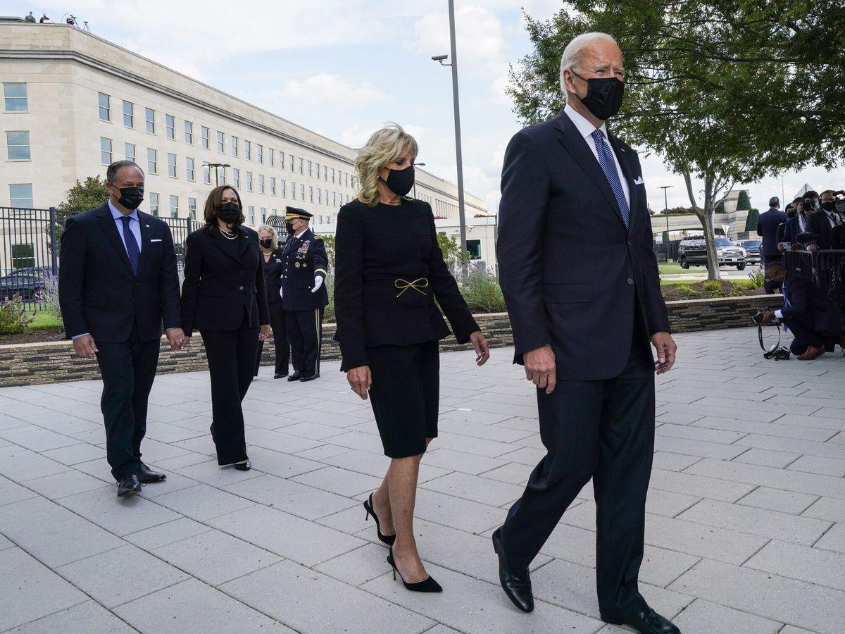 Foto: Joe Biden durante la conmemoración de las víctimas del 11-S. (Reuters)