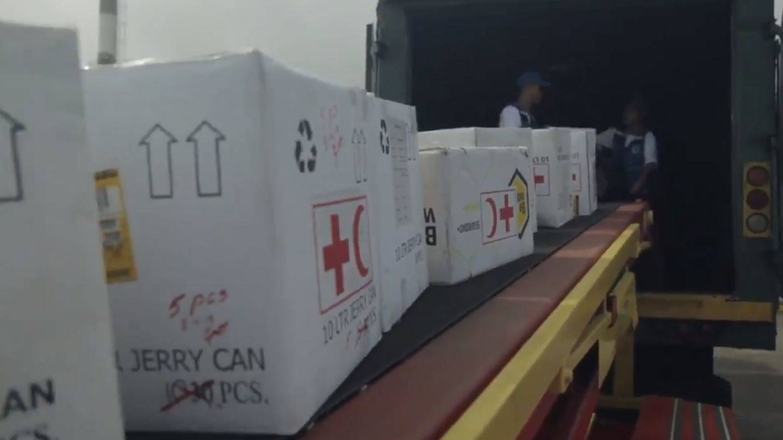 El material de Cruz Roja que ha empezado a entrar en Venezuela