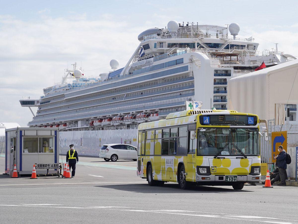 Foto: El crucero Diamond Princess, en el puerto de Yokohama. (EFE)
