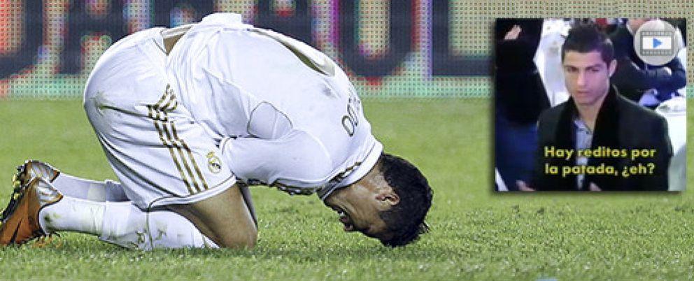 Cristiano Ronaldo, con un esguince, recriminó a Cerezo las patadas del Atlético en el derbi