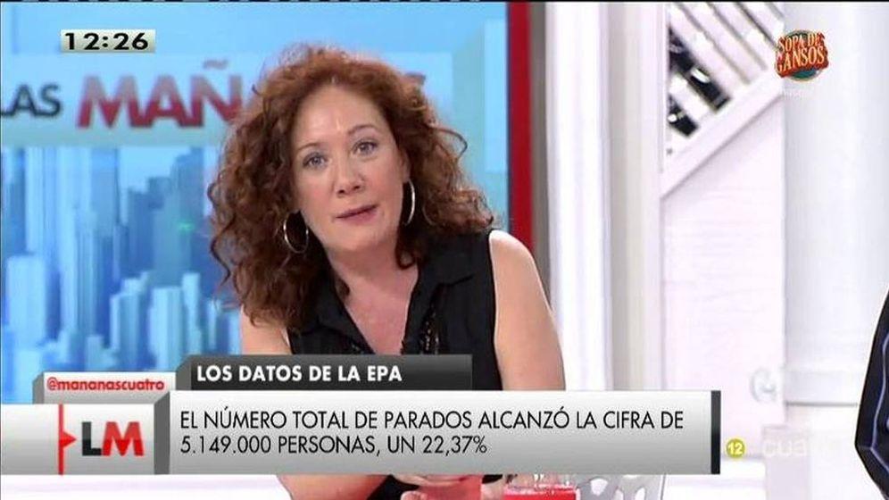 Foto: Cristina Fallarás en 'Las mañanas de Cuatro'.