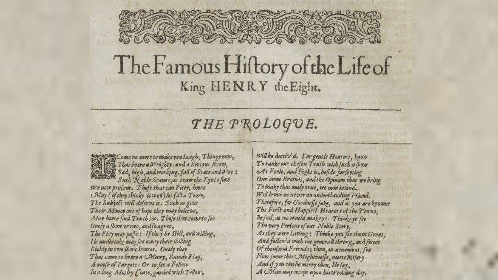 Foto: Primera página del original de 'Enrique VIII'. (CC/Wikimedia Commons)