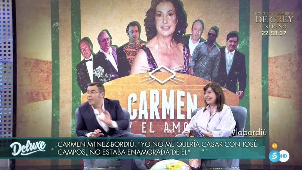 Foto: Carmen Martínez-Bordiú y Jorge Javier en 'Sábado Deluxe'.