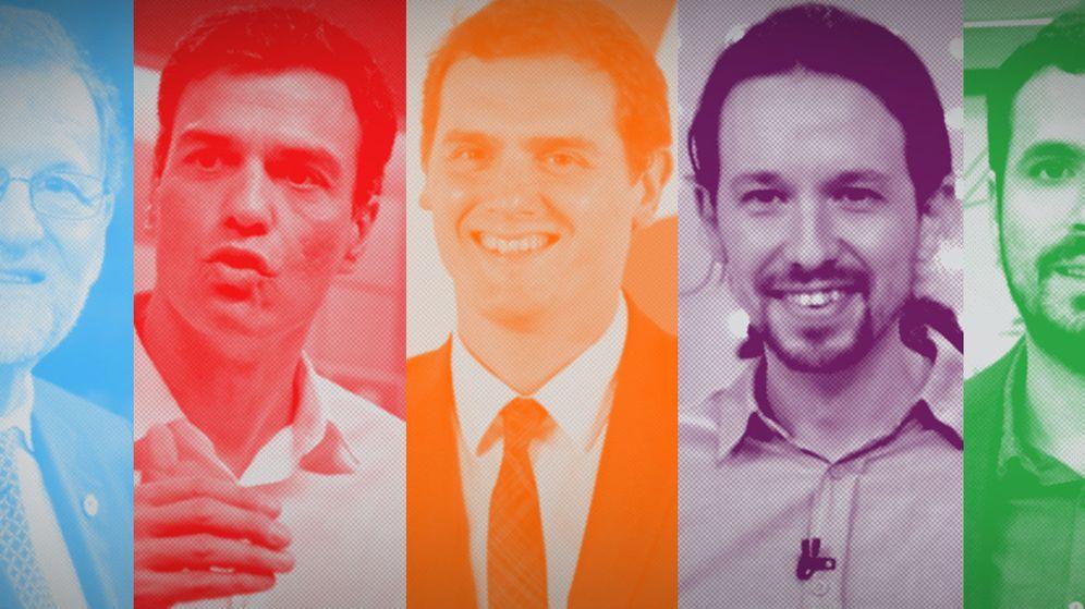 Foto: Los cuatro principales candidatos a la Presidencia del Gobierno