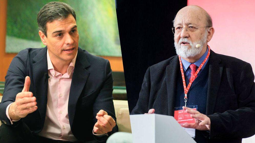 Foto: Pedro Sánchez y José Félix Tezanos. (EC)