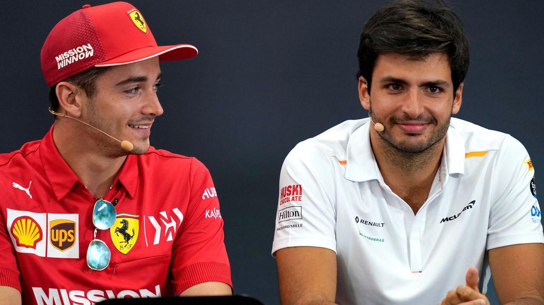 Elkan destaca la responsabilidad y el futuro de Charles Leclerc y Carlos Sainz en el futuro de Ferrari (EFE)