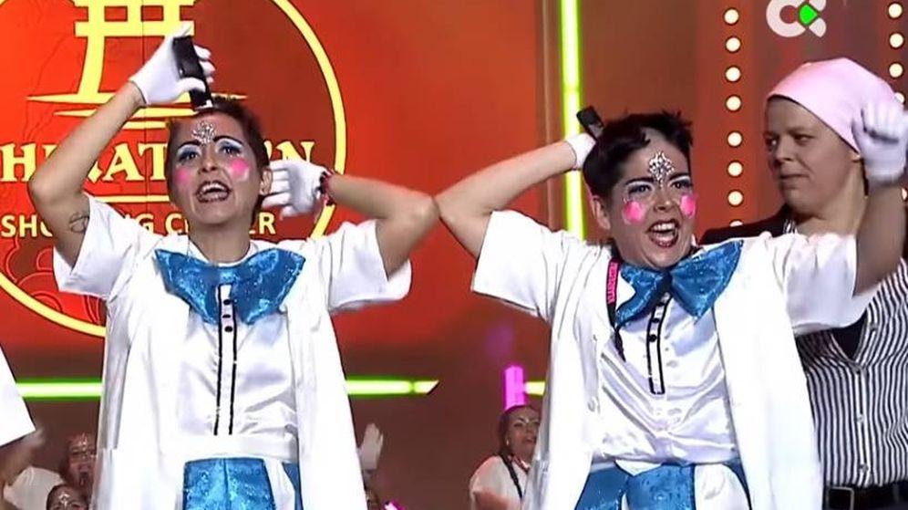 Foto: Las Klandestinas durante su actuación en el concurso de murgas del Carnaval de Tenerife (YouTube)