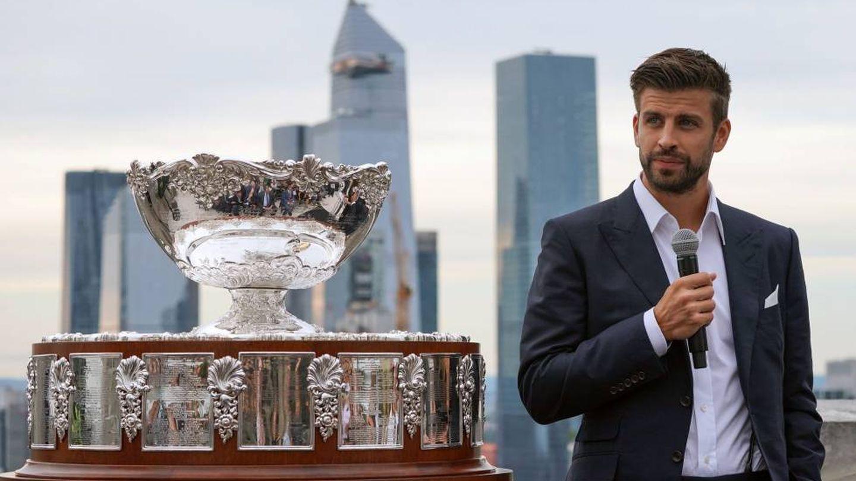 Gerard Piqué, en la presentación de la nueva Copa Davis en Madrid. (Reuters)