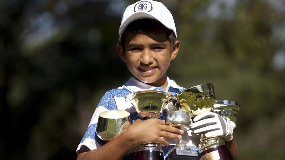 Foto: Dylan, con sus trofeos ganados (AP).