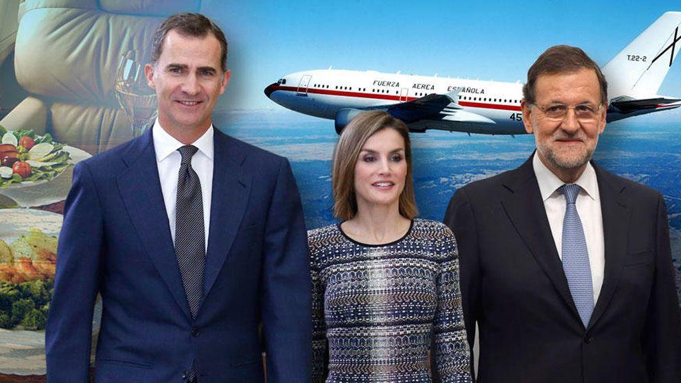 Lo que comerán los Reyes, el presidente y los ministros en sus viajes en avión