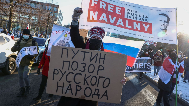 Protestas a favor de Navalni. (Reuters)