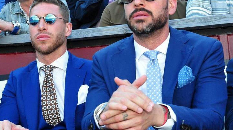 Sergio Ramos y su hermano, René Ramos. (Cordon Press)