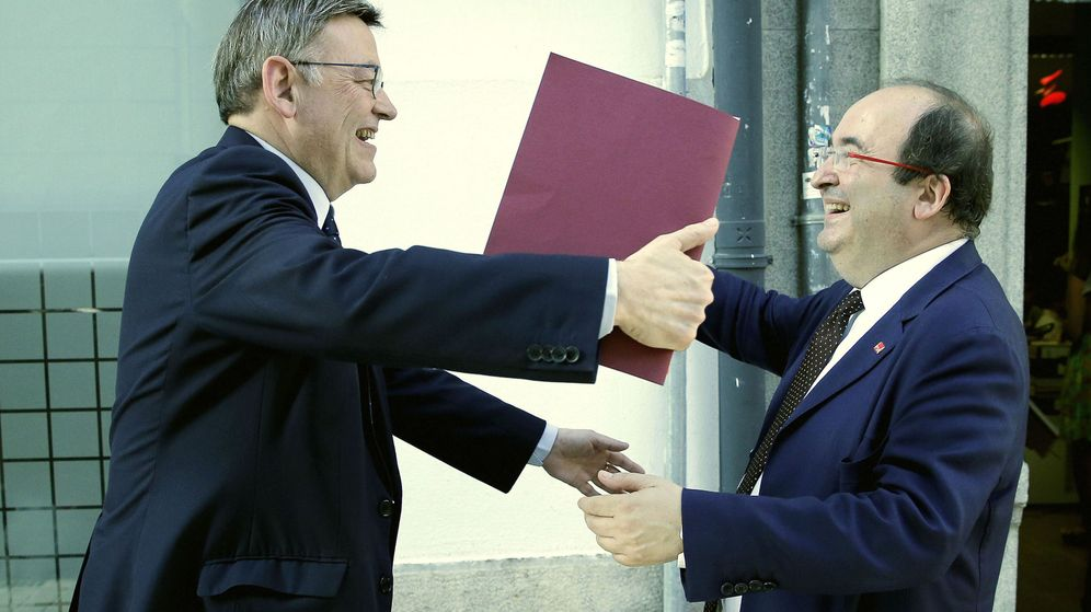 Foto: Puig e Iceta, en la presentación del libro de este último la tercera via
