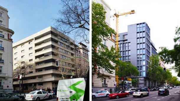 Foto: A la izquierda, la Audiencia Nacional en 2012; a la derecha después de las obras de remodelación. (Fotos: pacopartearroyo.net)