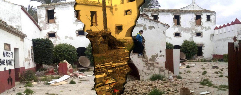 Foto: Así ha quedado la finca de Gil Silgado tras la acción de los okupas (Fotomontaje: Vanitatis)