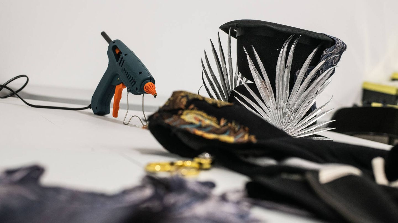 El sombrero es uno de los elementos principales en el vestuario de Wah. (Foto: Carmen Castellón)