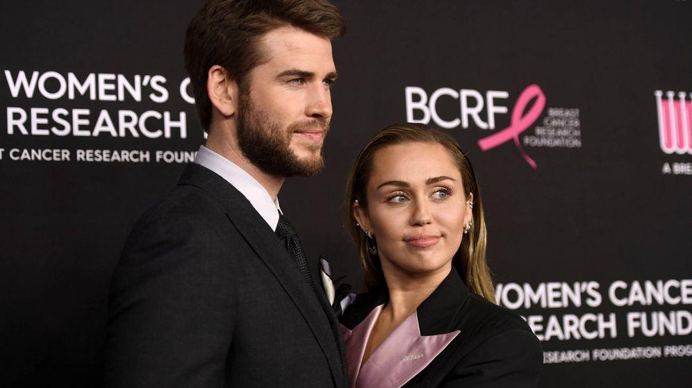 Foto:  Liam y Miley, en otros tiempos. (Getty)