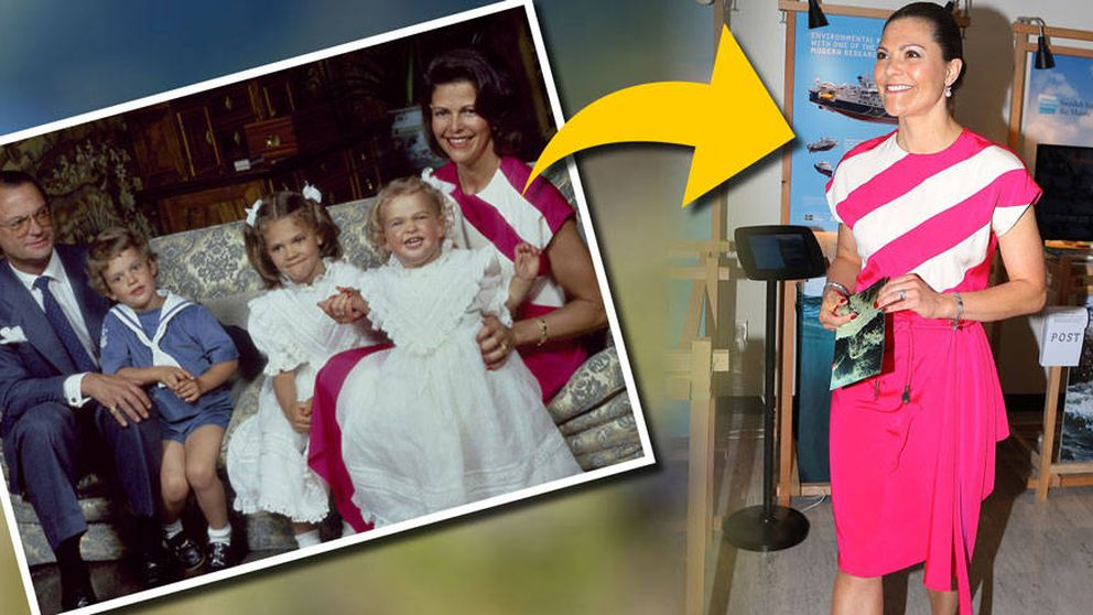 Victoria de Suecia rebusca en el baúl de los recuerdos de su madre