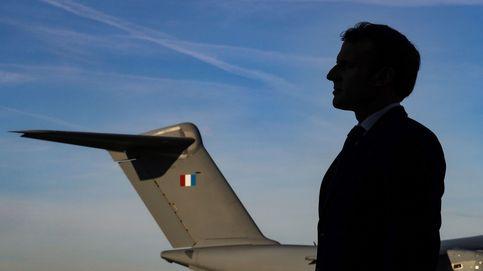 Presidente Emmanuel Macron se encuentra con las fuerzas armadas