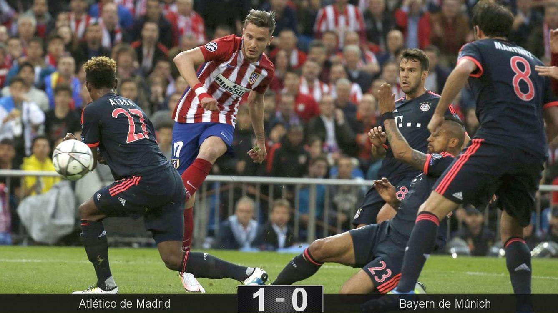 Foto: El golazo de Saúl decidió el partido. (Kiko Huesca/EFE)