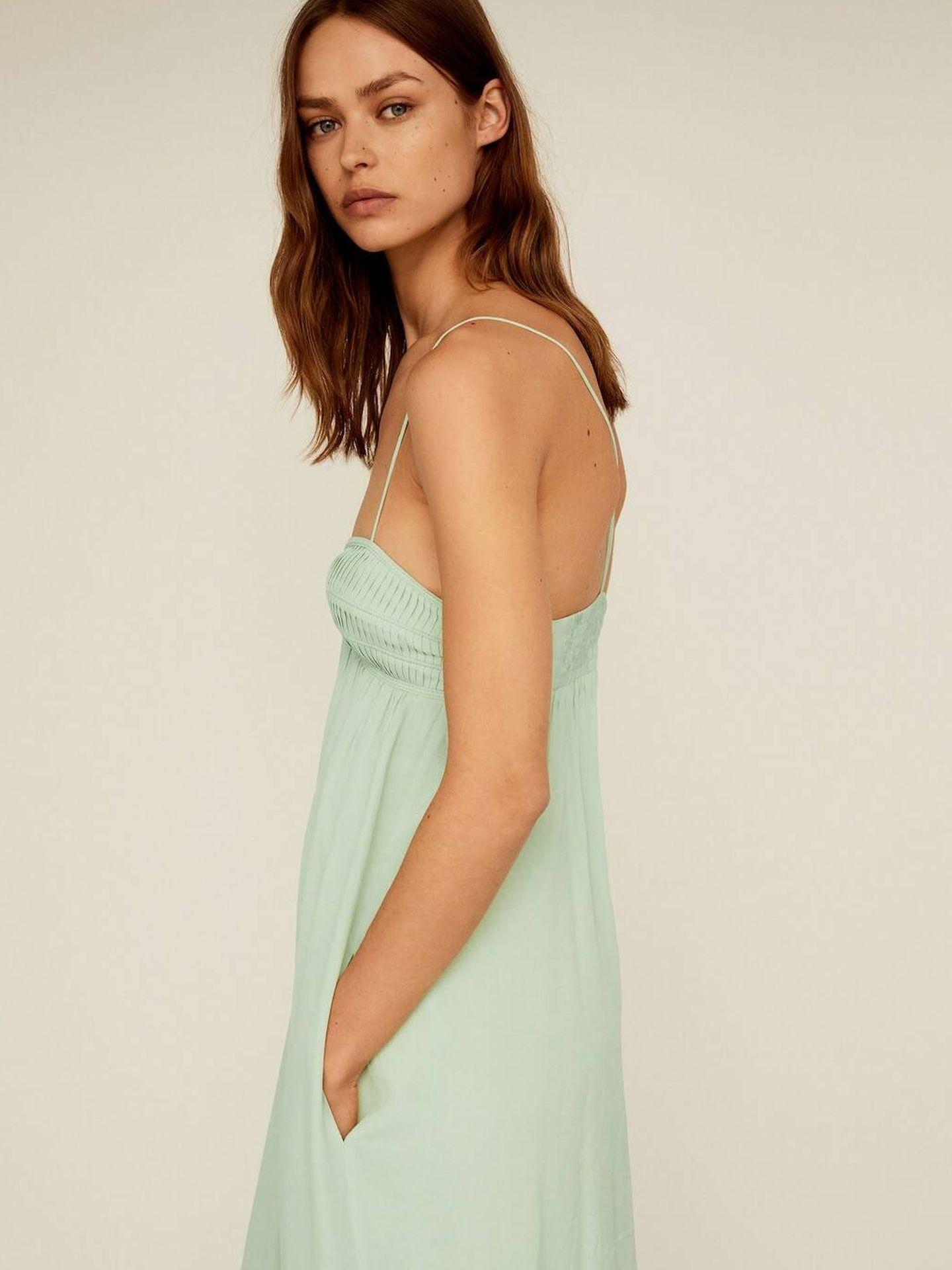 El vestido de Mango Outlet que rebaja su precio a la mitad. (Cortesía)