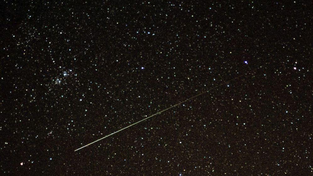 Foto: Las lágrimas de San Lorenzo, la lluvia de meteoritos conocidos también como Perseidas. (EFE)