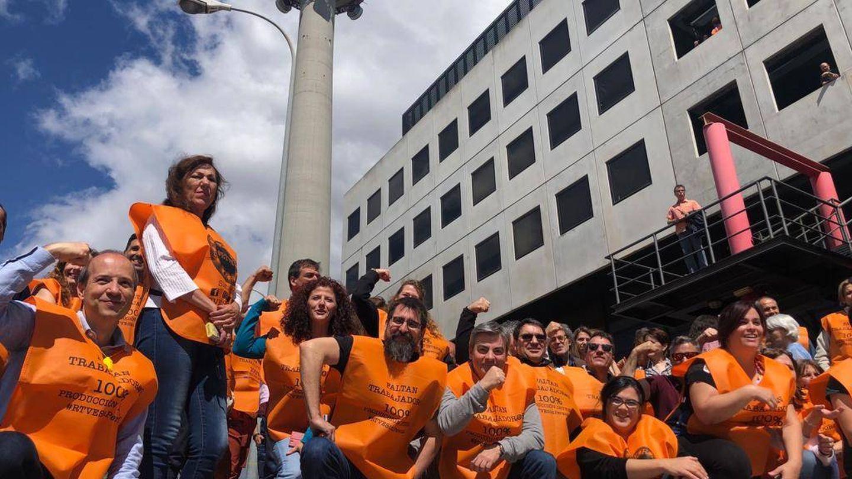 Trabajadores de RTVE en Torrespaña. (#LosMiércolesLoPeto)