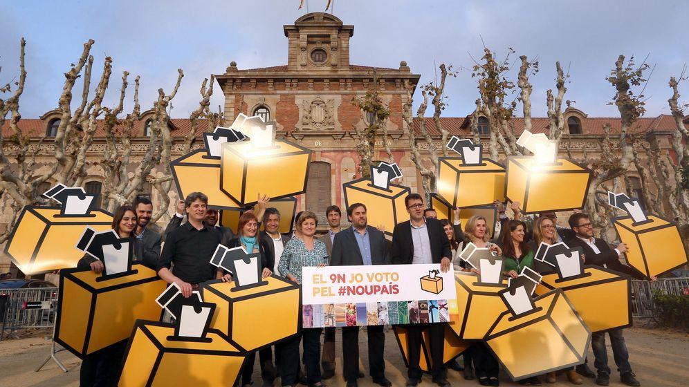 Foto: Oriol Junqueras 'calienta' la consulta catalana.