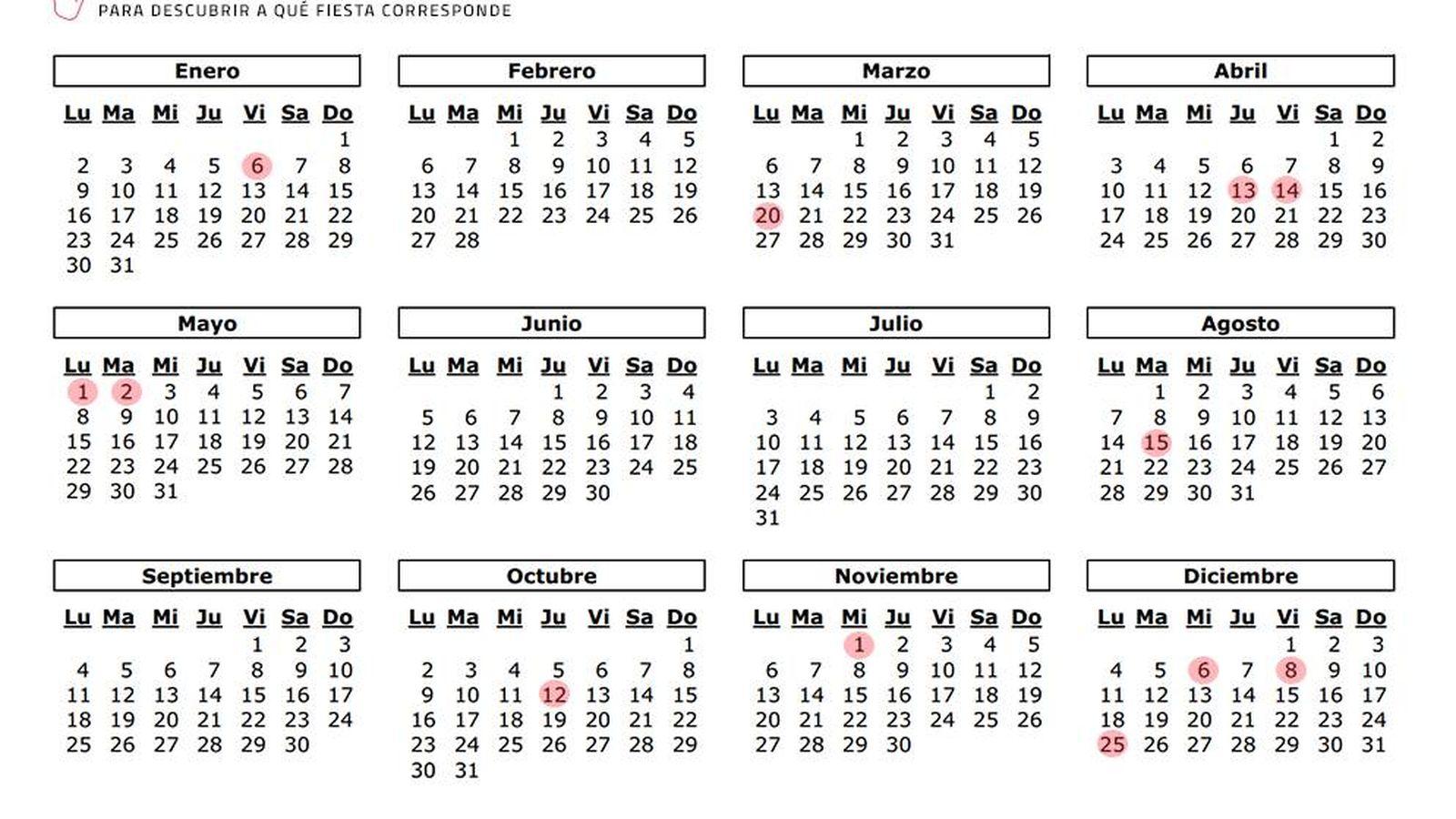 Calendario 18.Semana Santa Calendario Laboral 2017 En La Comunidad De Madrid 12