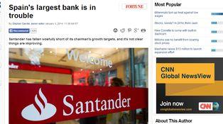 Demoledora bienvenida de año de Fortune al Santander